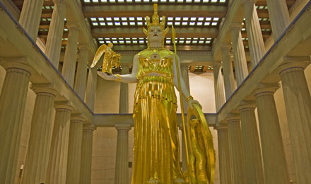 Athena Parthenos in the Nashville Parthenon